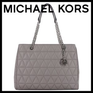 MICHAEL KORS VIVIANNE Leather Tote Shoulder